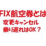 FIX航空券って? (1)